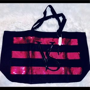 NWT Victoria's Secret large sequined tote bag